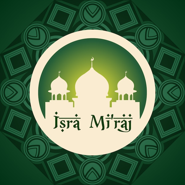 Isra miraj backgroud ontwerp Gratis Vector