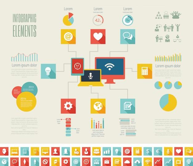 It-industrie infographic elementen Premium Vector