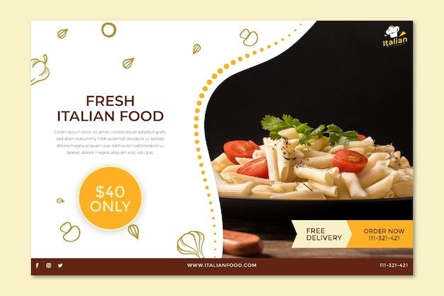 Italiaans eten banner concept Gratis Vector