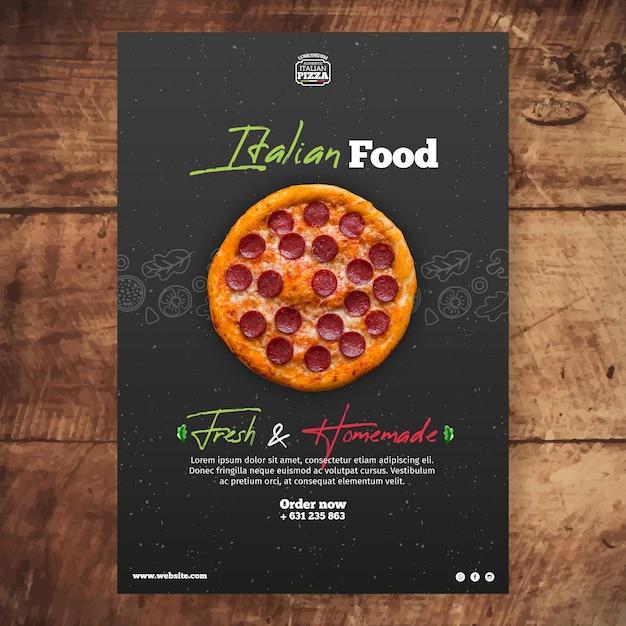 Italiaans eten poster sjabloon Gratis Vector