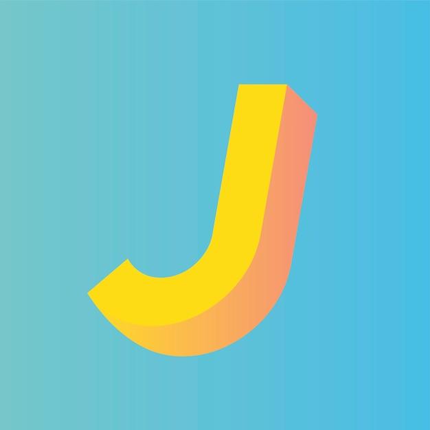 J letter Gratis Vector