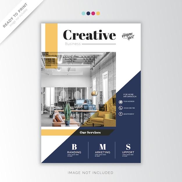 Jaarverslag zakelijk, creatief ontwerp Premium Vector