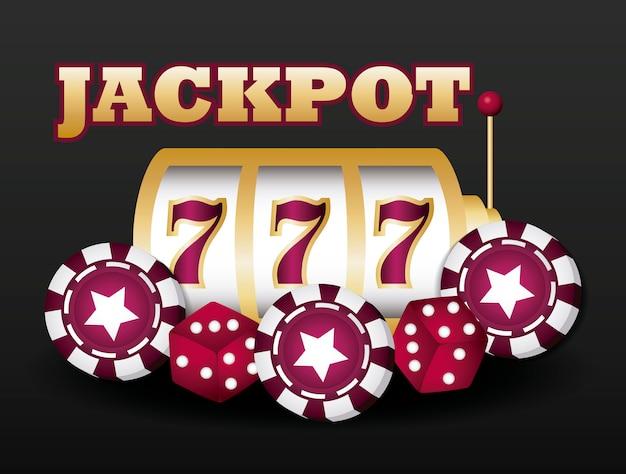 Jackpot en casino Gratis Vector