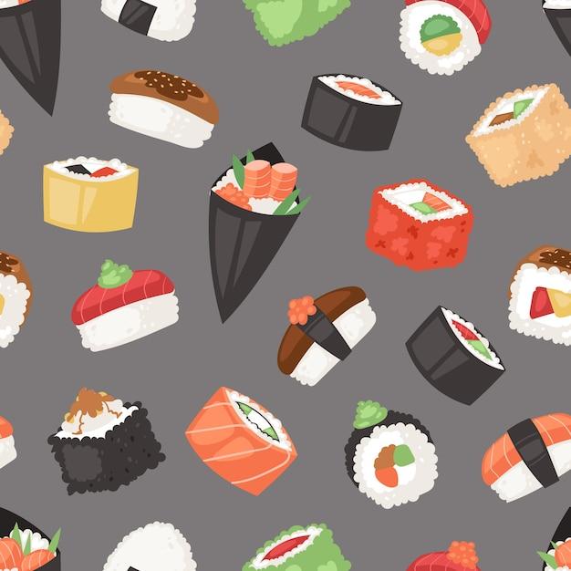 Japans voedselpatroon Premium Vector
