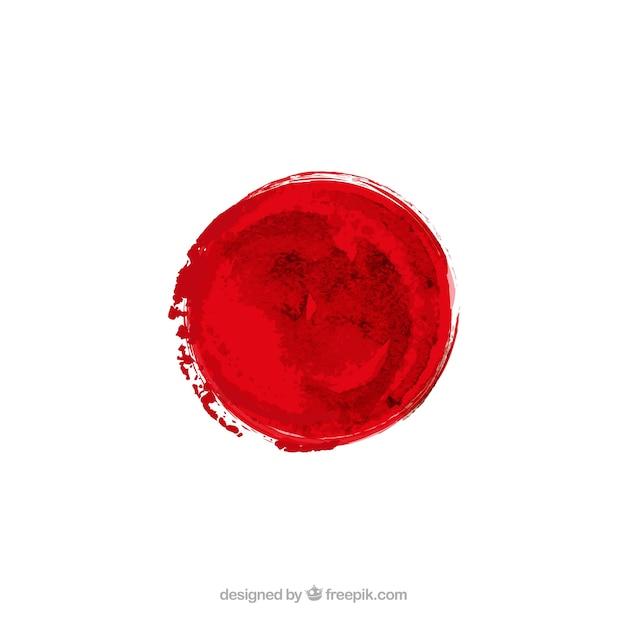 Japanse vlag in aquarel stijl Gratis Vector
