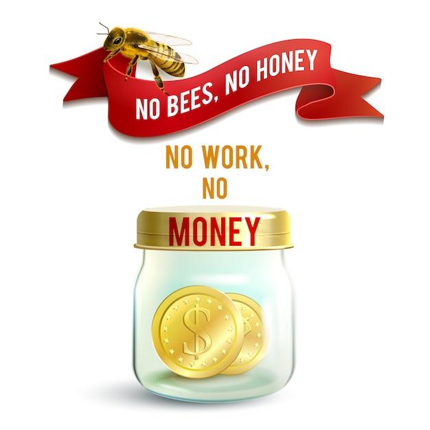 Jar with money Gratis Vector