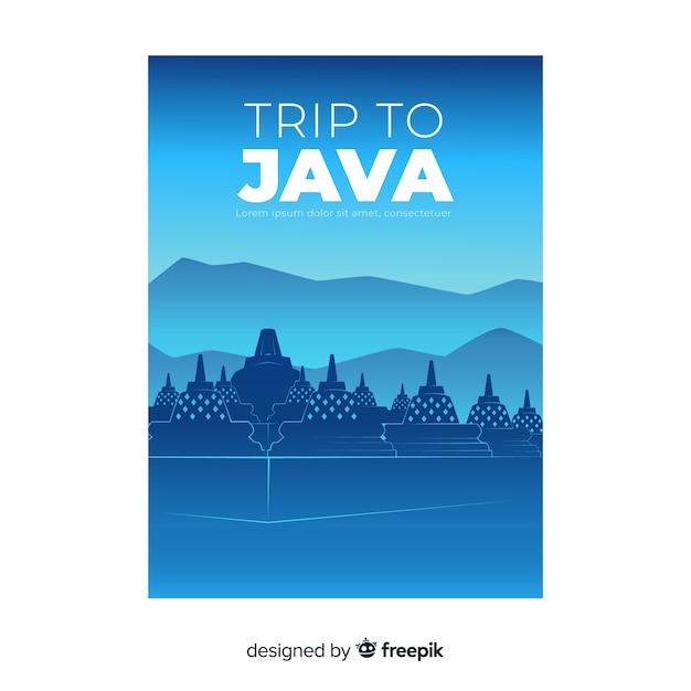 Java-flyer Gratis Vector