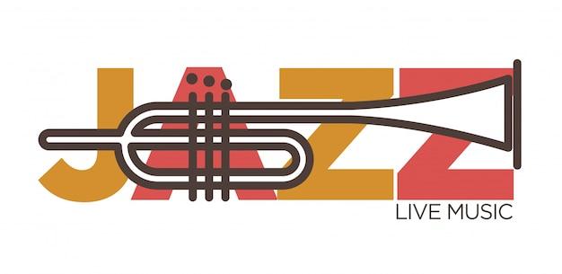Jazz live muziek banner Premium Vector