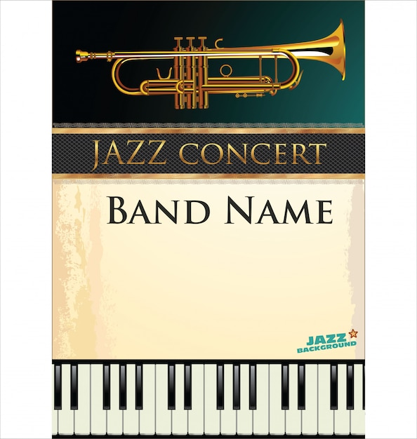 Jazz muziek achtergrond Premium Vector