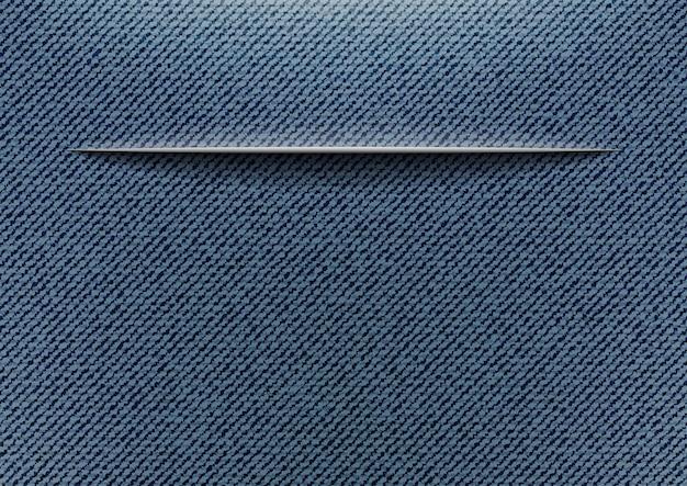 Jeans met snit Premium Vector