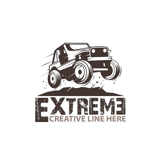 Jeep extreem Premium Vector