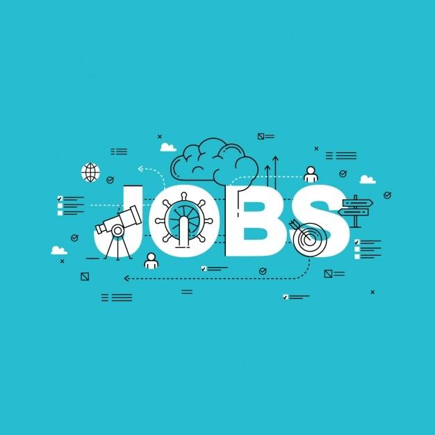 Jobs achtergrond ontwerp Gratis Vector