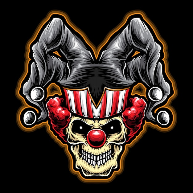 Joker clown vector Premium Vector