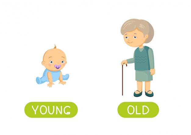 Jong en oud Premium Vector