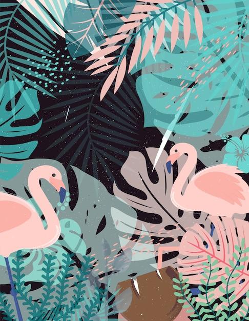 Jungle achtergrond Premium Vector