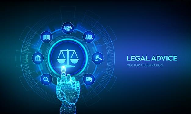 Juridisch advies achtergrond Premium Vector