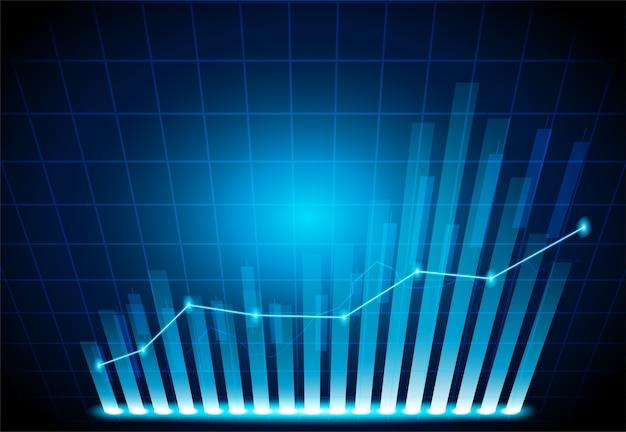 Kaars stok grafiek grafiek van de aandelenmarkt Premium Vector