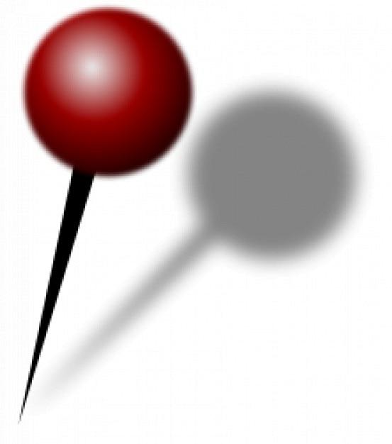 Kaart pin met schaduw Gratis Vector