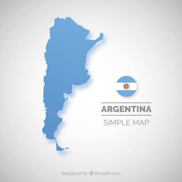 Kaart van argentinië Gratis Vector