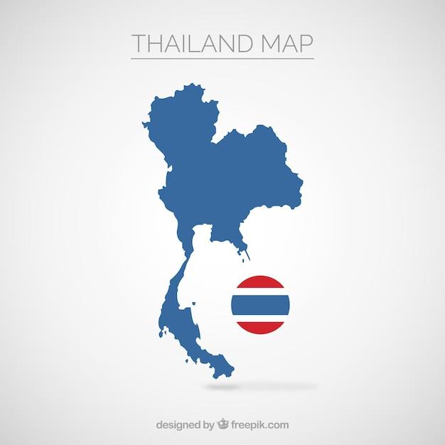 Kaart van thailand Gratis Vector