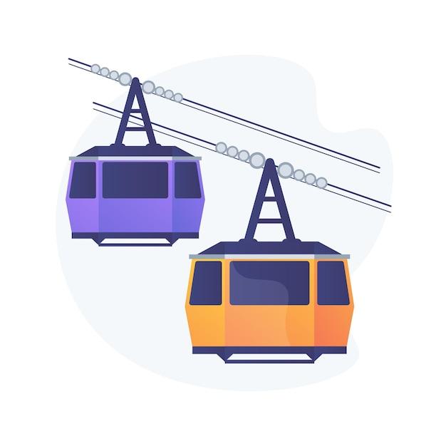 Kabel transport abstract concept illustratie Gratis Vector