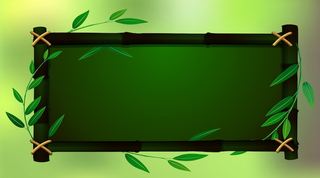 Kadersjabloon met groene babmoo Gratis Vector