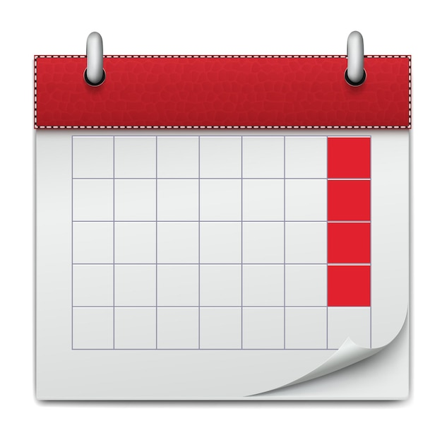 Kalender notebook planning Premium Vector