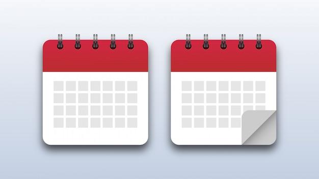 Kalender pictogrammen Premium Vector