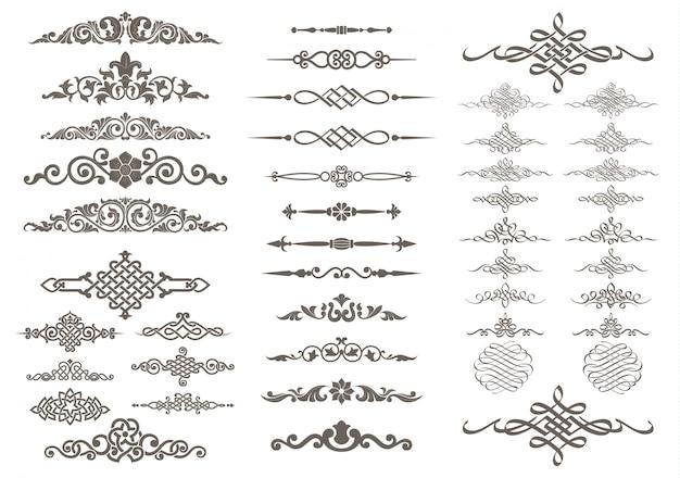 Kalligrafisch en ornamentontwerp Premium Vector
