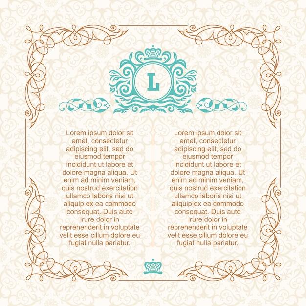 Kalligrafische grenskader Premium Vector