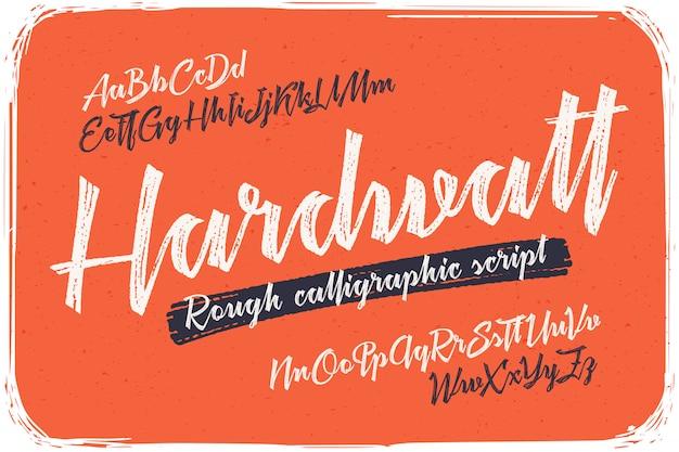 Kalligrafische lettertypeset Gratis Vector