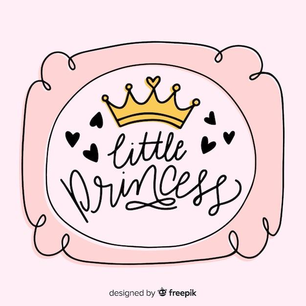 Kalligrafische roze prinses achtergrond Gratis Vector