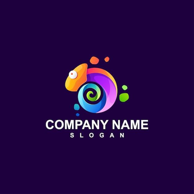 Kameleon logo ontwerp vectorillustratie Premium Vector