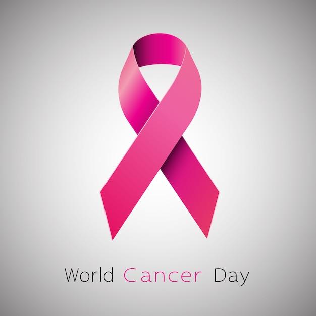 Kanker bewustzijn roze lint. Premium Vector