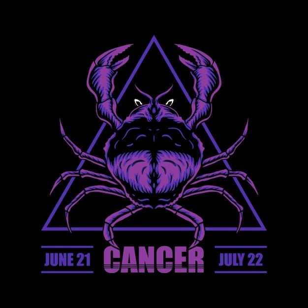 Kanker dierenriem illustratie Premium Vector