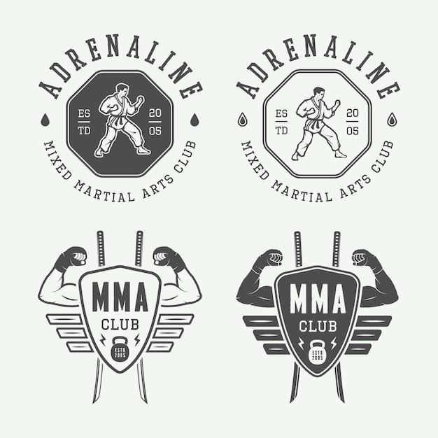 Karate logo, embleem Premium Vector
