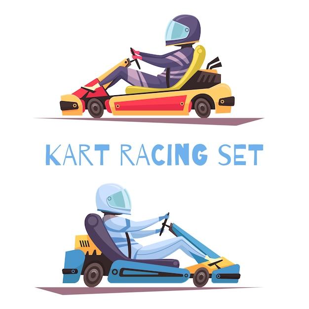 Karting concept Gratis Vector