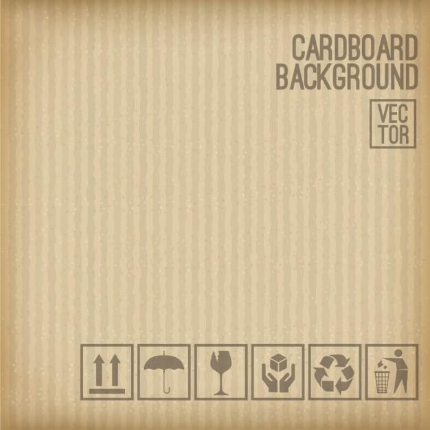 Kartonnen achtergrond set van kartonnen symbool Gratis Vector