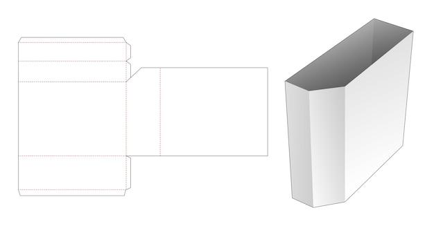 Kartonnen afgeschuind briefpapier doos gestanst sjabloon Premium Vector
