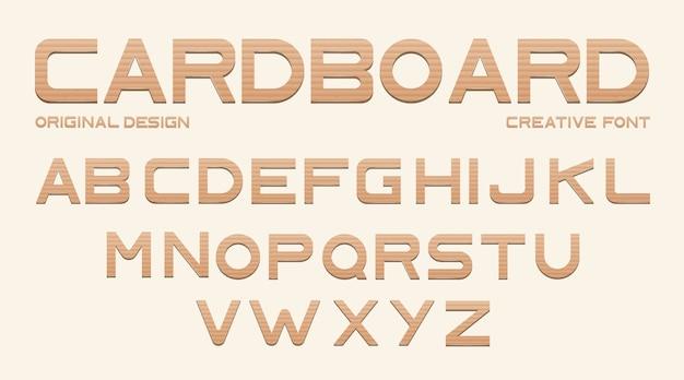 Kartonnen lettertype Gratis Vector