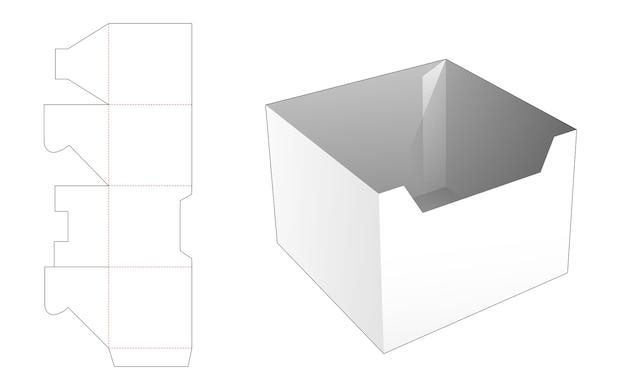 Kartonnen maaltijdkom gestanst sjabloon Premium Vector