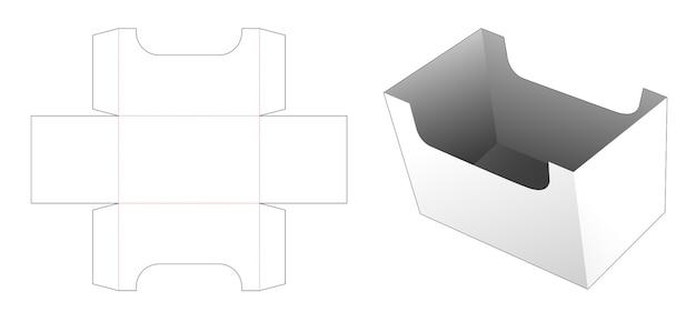 Kartonnen opbergdoos gestanst sjabloon Premium Vector