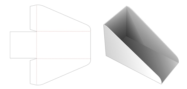 Kartonnen plank boekendoos gestanst sjabloon Premium Vector
