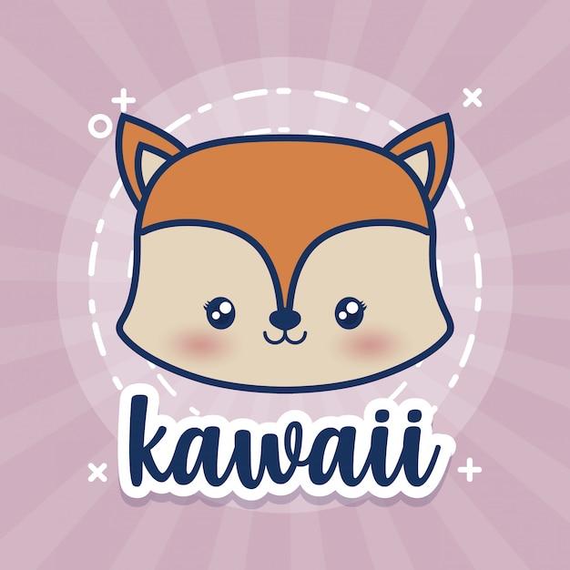 Kawaii dieren Gratis Vector