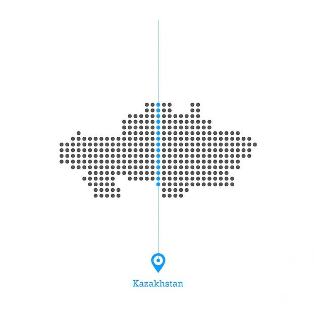 Kazachstan doted kaart desgin vector Premium Vector