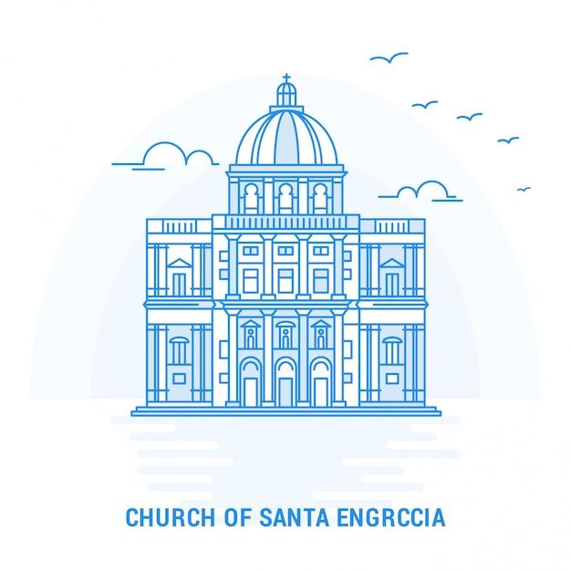Kerk van santa en graccia Gratis Vector
