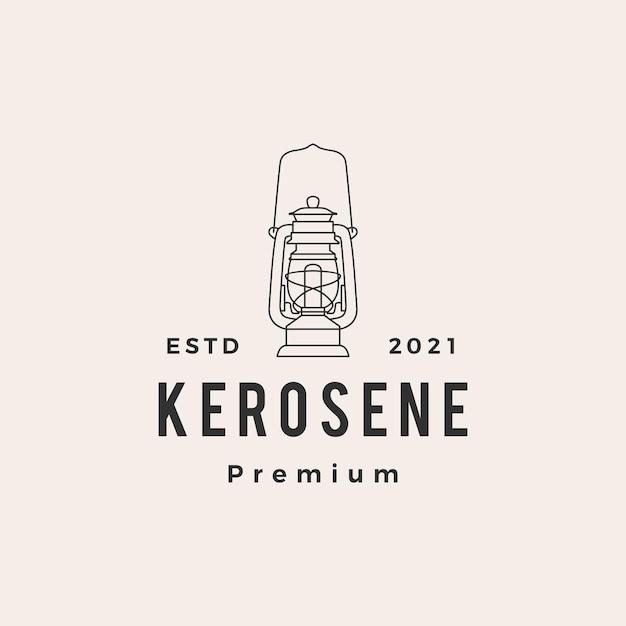 Kerosine lantaarn hipster vintage logo Premium Vector