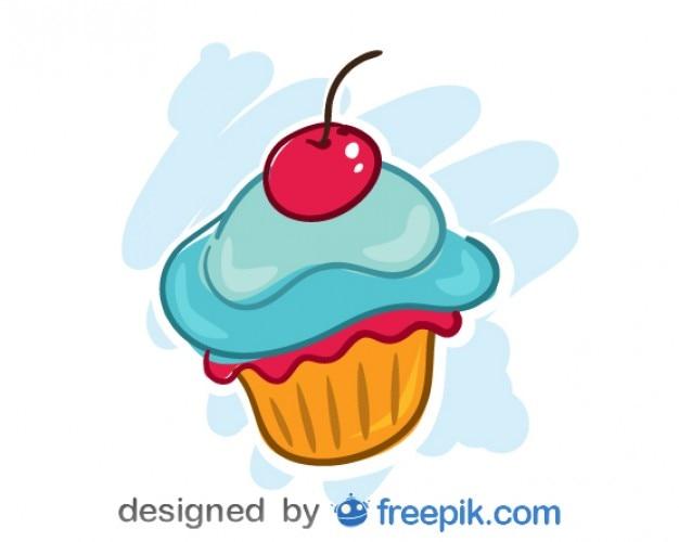 Kers cupcake vector design Vector Gratis Download