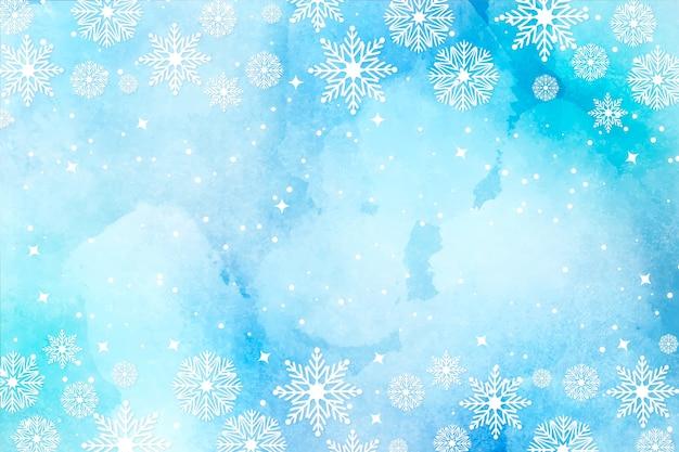 Kerst achtergrond in aquarel Gratis Vector