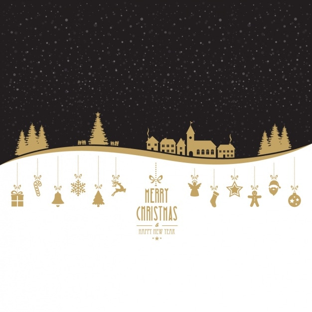 Kerst achtergrond ontwerp Gratis Vector